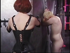 Ginger mistress needling her..