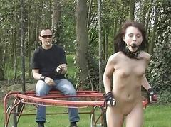 Nataly restrained outdoor..