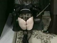 Horny nun is kneeling..