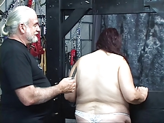 Guy punishes kinky BBW in..