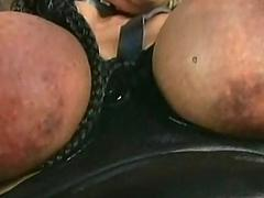 Golden slave with big tits..