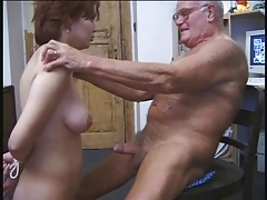 OLD MAN AND TEEN n16 redhead..