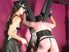 Submissive slave spanked..